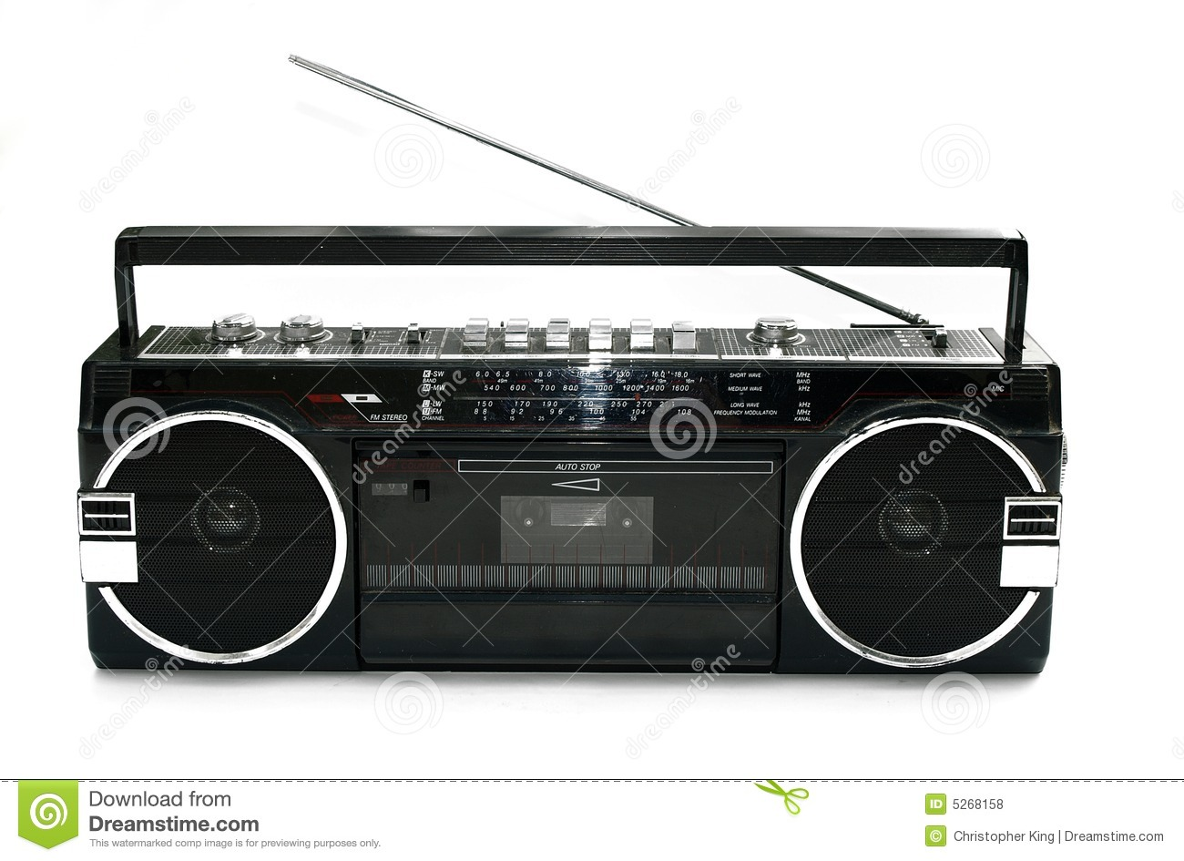 Dirty old 1980s style cassette player