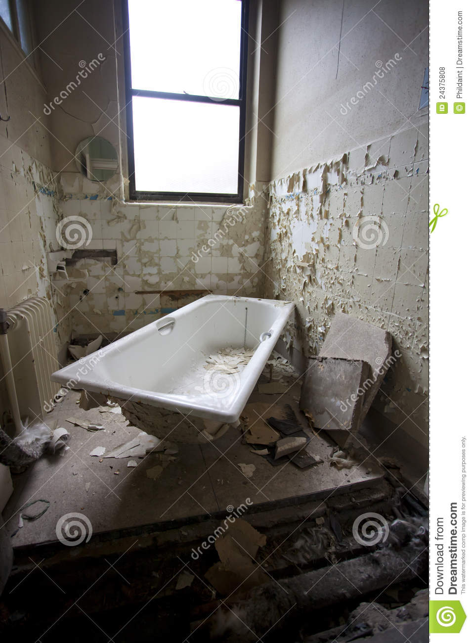 Dirty Old Bath Stock Photo Image Of Destruction Indoors