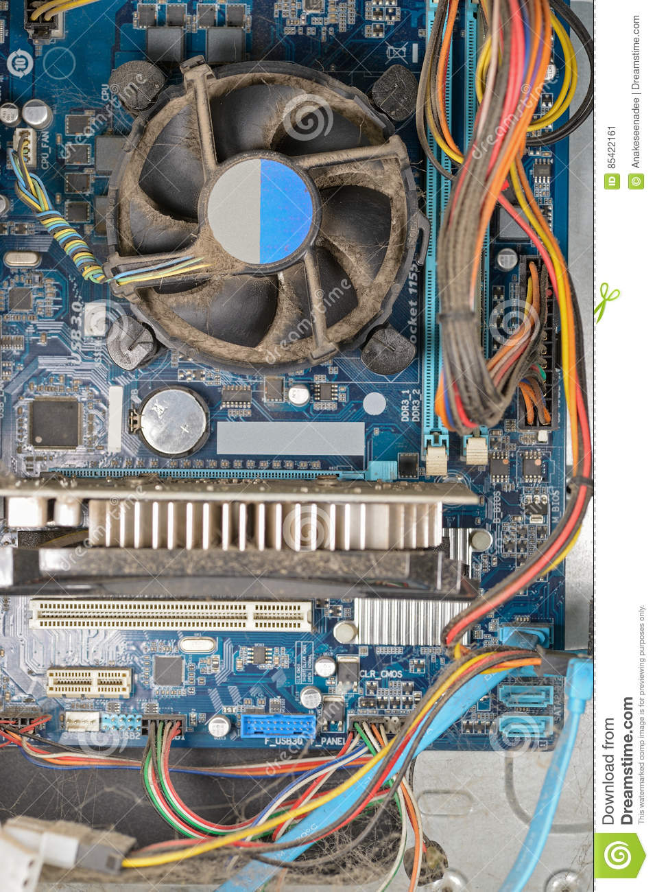 Dirty Pc Computer Stock Image Image Of Case Clean Part 85422161
