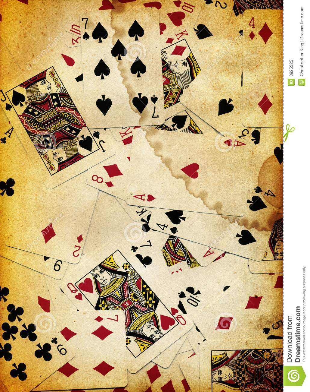 Dirty Playing Cards Background Texture Design