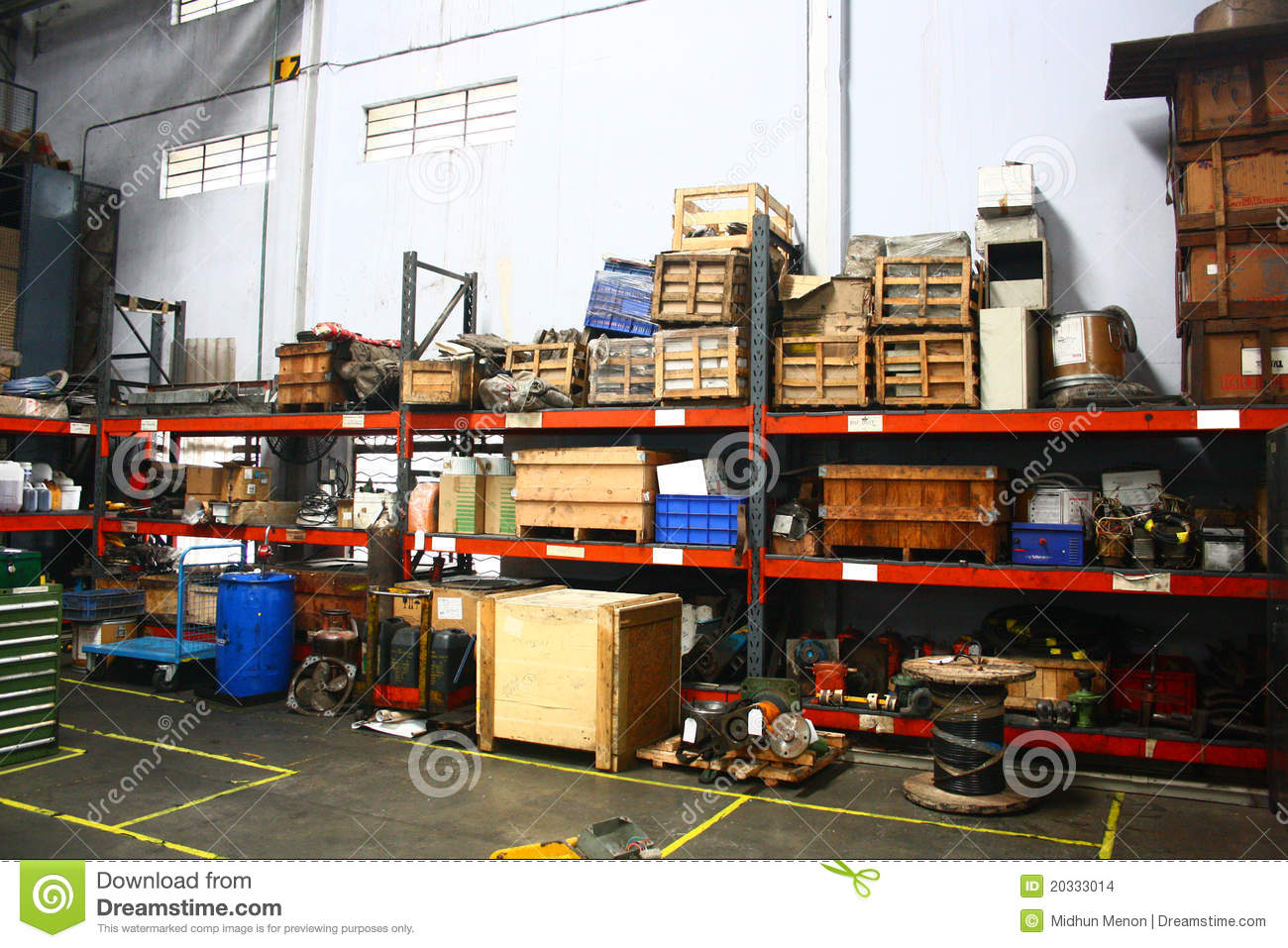 Dirty And Poorly Used Storage Racks Stock Images Image