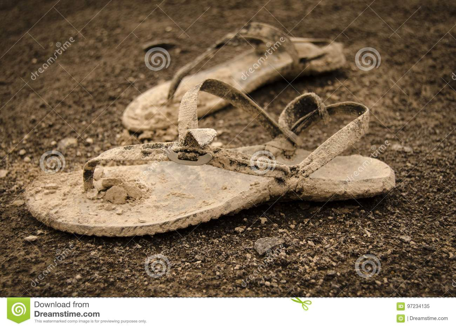 40e035122887 Dirty sandals stock image of summer sandals season jpg 1300x951 Dirty  sandals