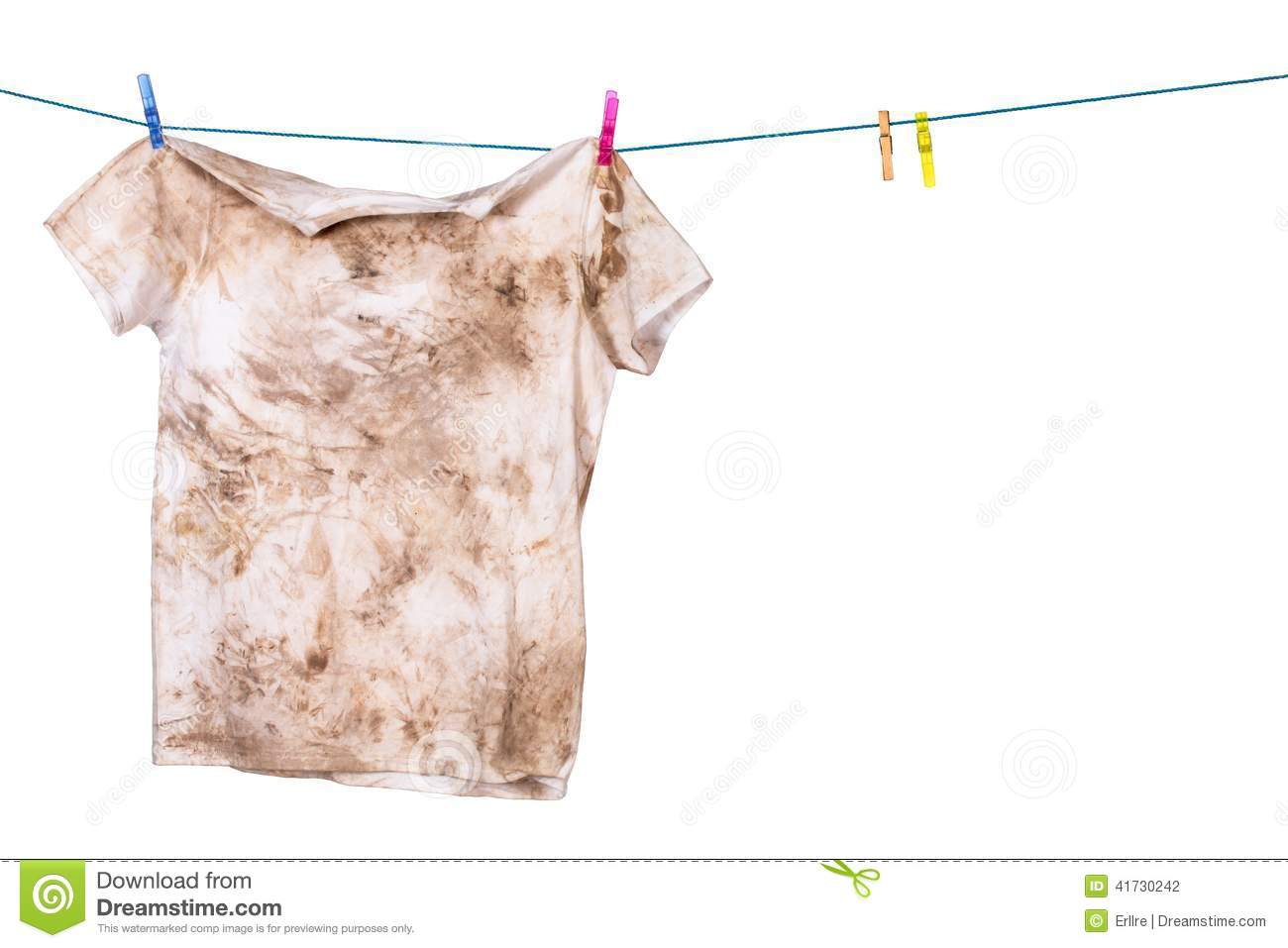 Dirty Shirt Stock Photo - Image: 41730242