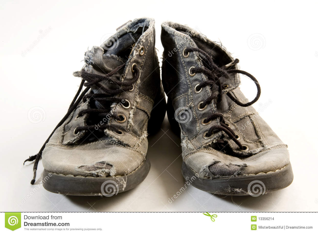 Dirty Shoes Stock Photo Image Of Miles Shoes Worn