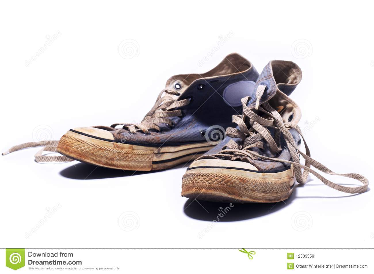 Dirty Sneakers Royalty Free Stock Photos - Image: 12533558