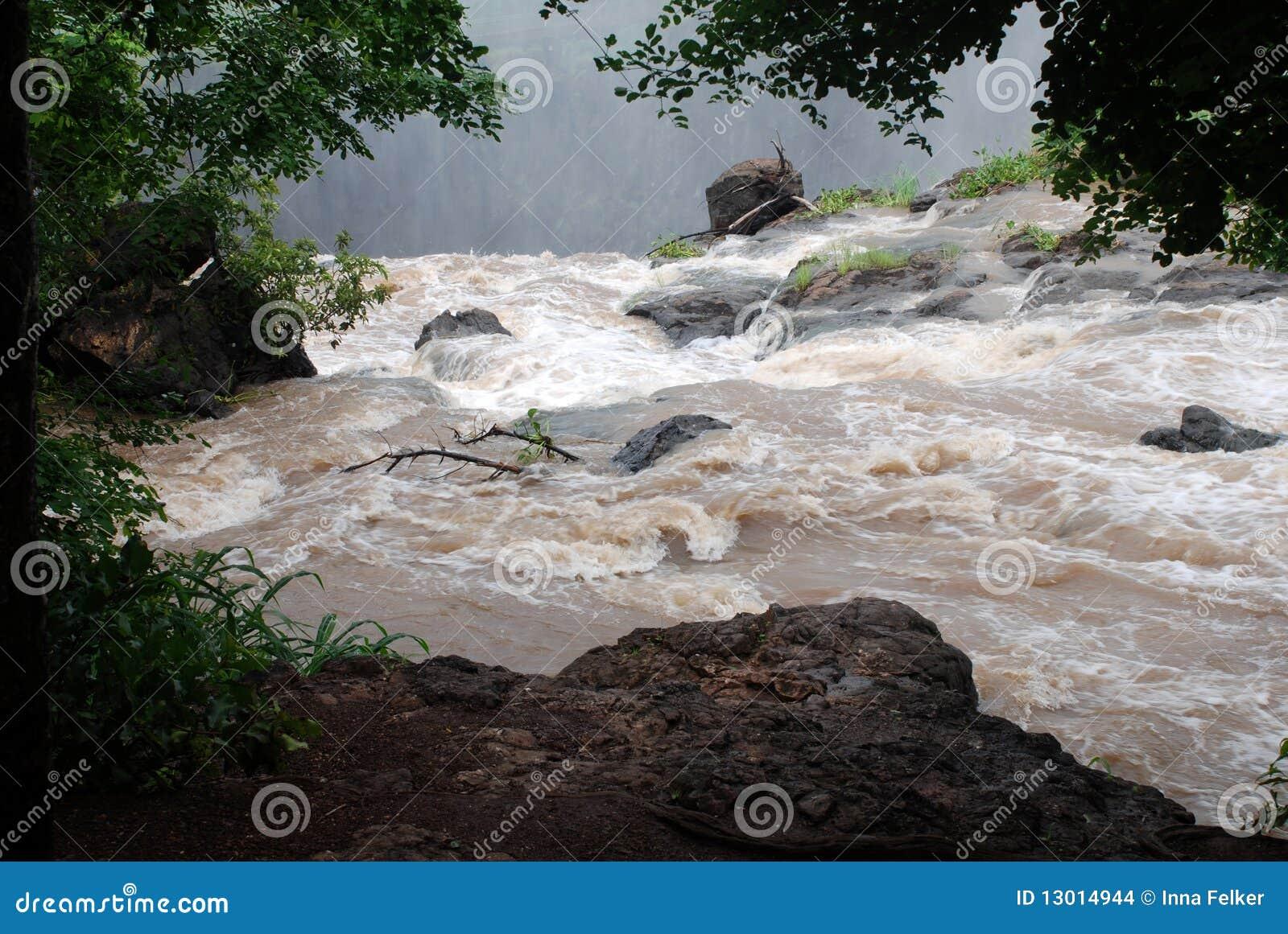 Dirty stream river Zambezi(Africa)