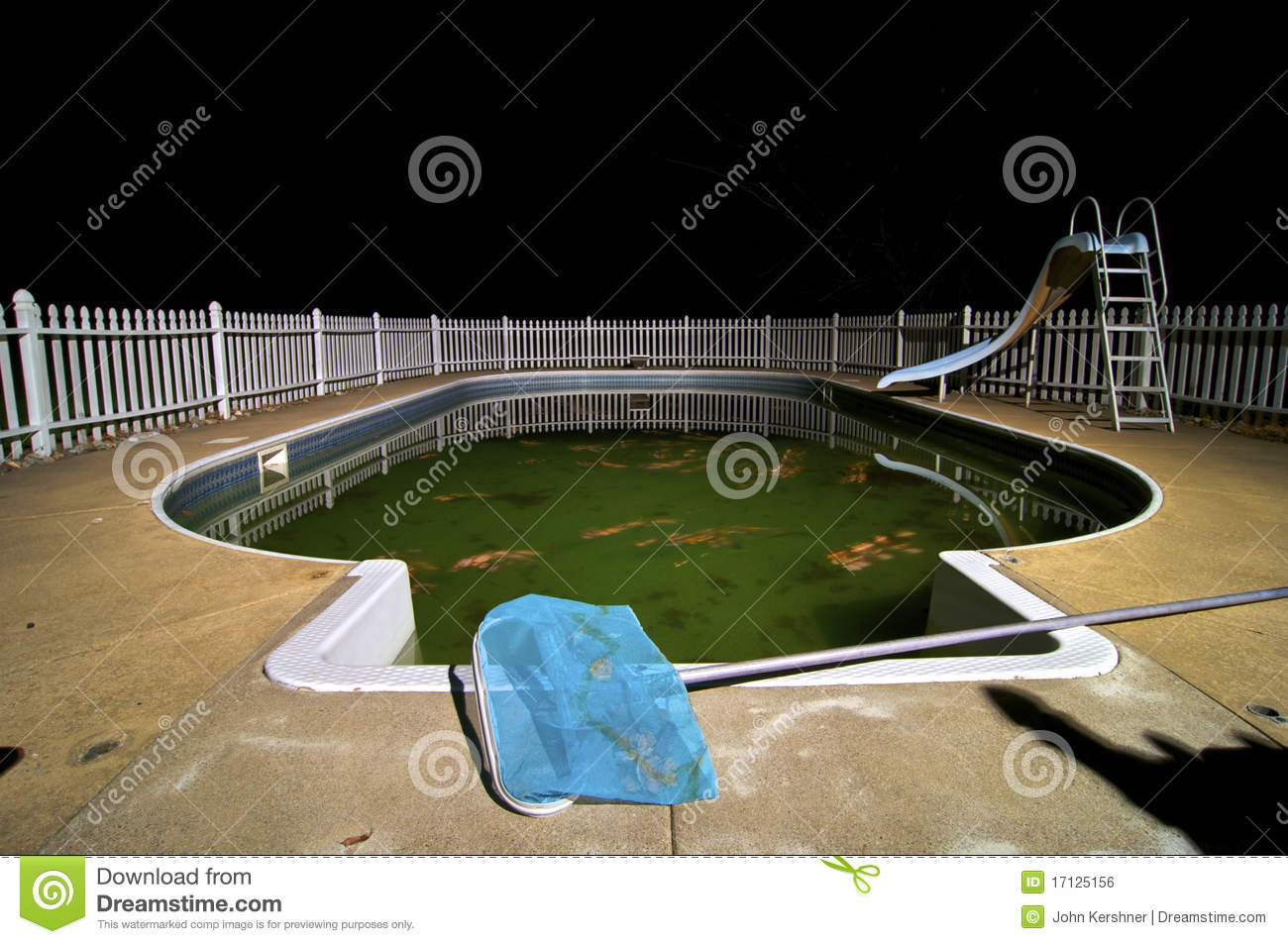 dirty swimming pool royalty free stock image