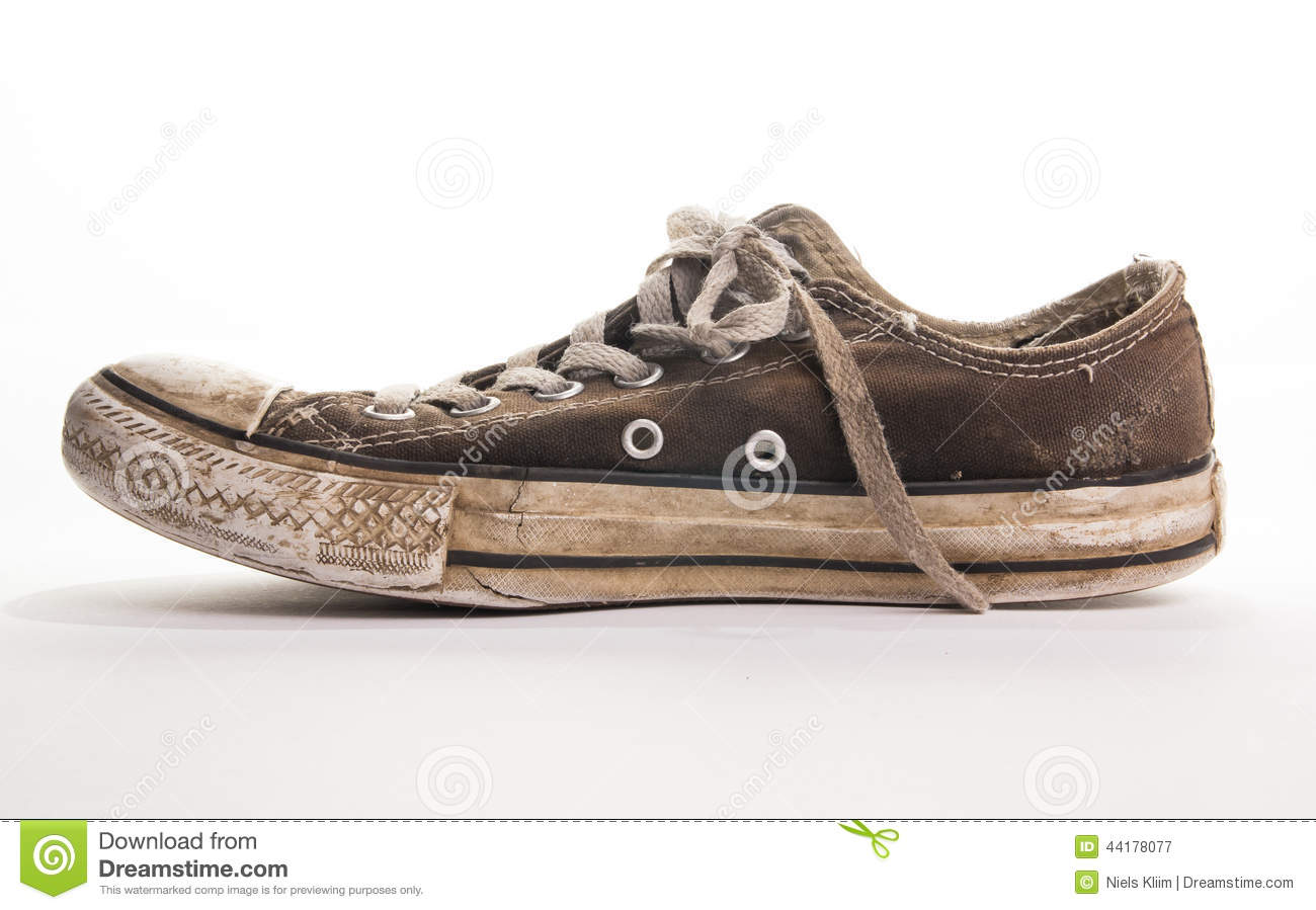 Old Dirty Black Tennis Shoes