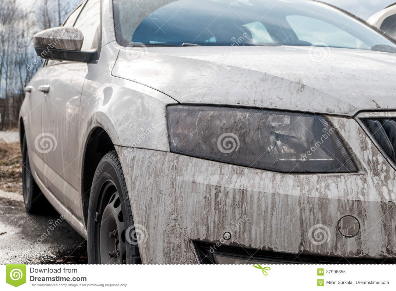 dirty white car stock image image of transport wash 87996855. Black Bedroom Furniture Sets. Home Design Ideas