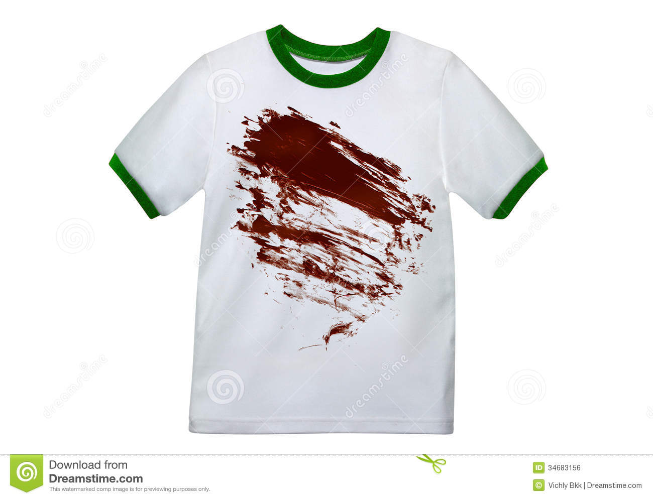 dirty white shirt stock photo image of green casual