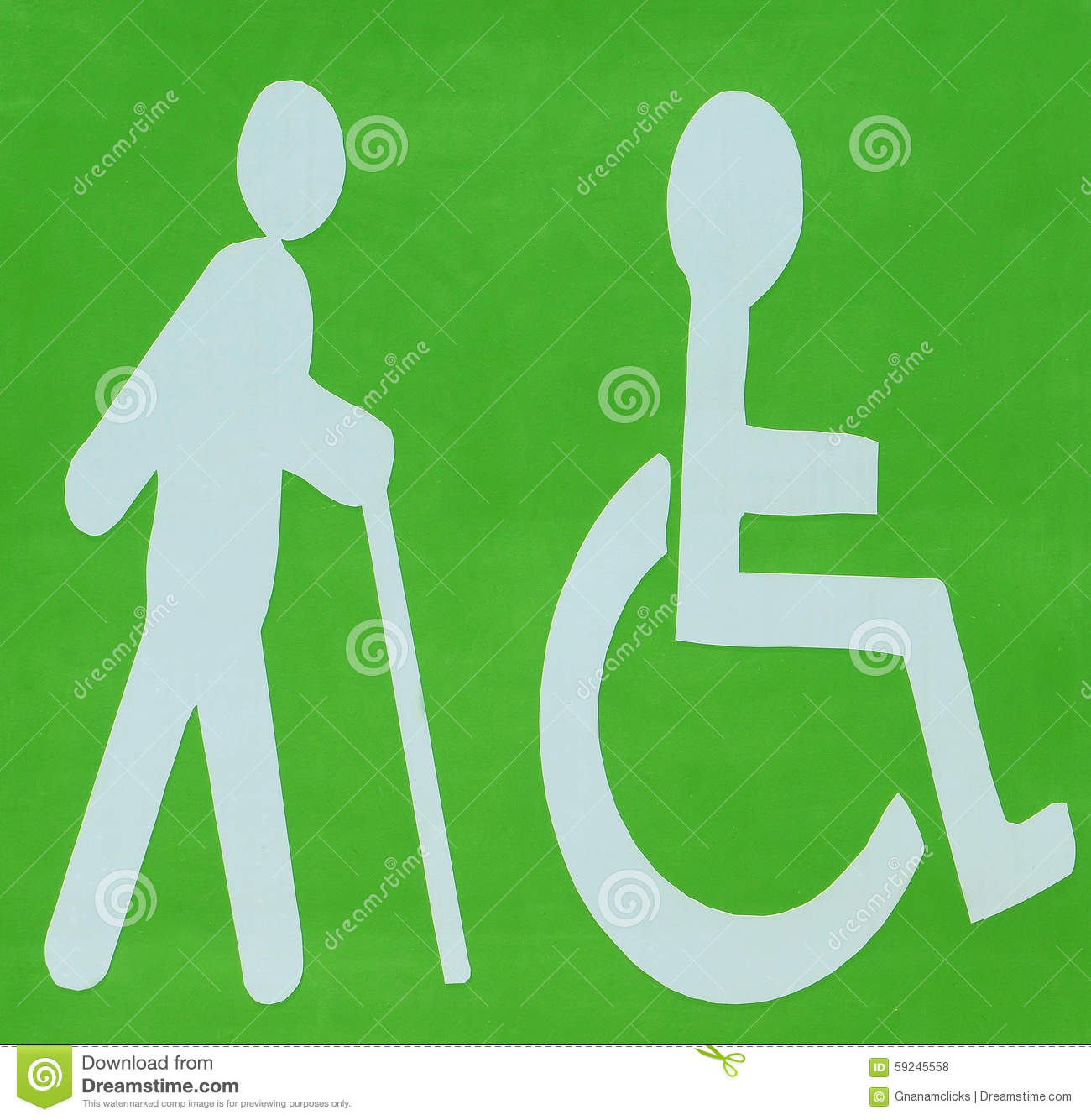 DISABLED AND BLIND LOGO Stock Illustration - Image: 59245558