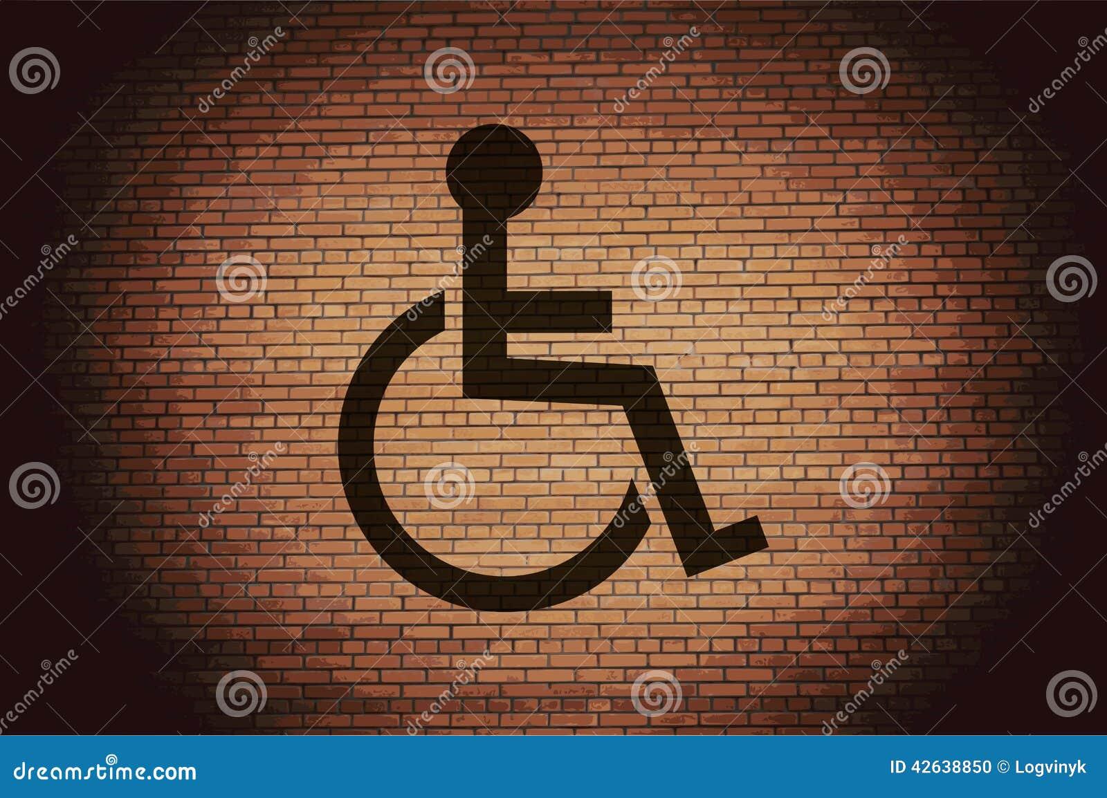 Disabled Botão e espaço modernos lisos da Web para