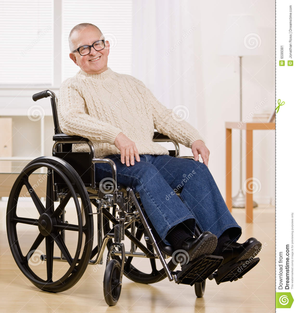 Disabled Man In Wheelchair Stock Image Image 6599381