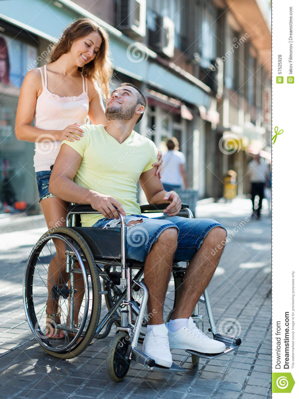 Disabled man in wheelchair outdoor stock photo image 57525928