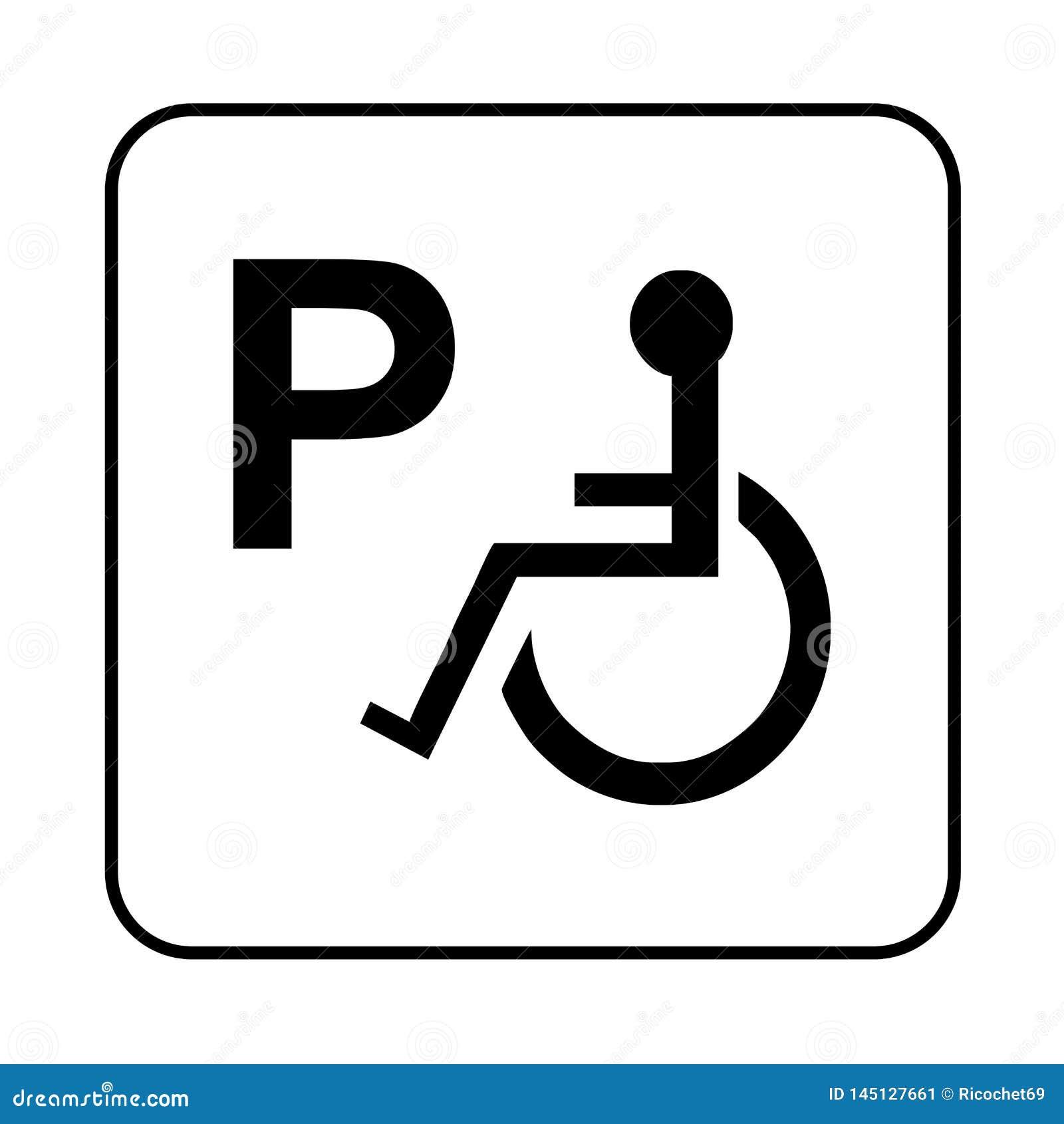- Disabled Parking Sign Stock Illustration. Illustration Of