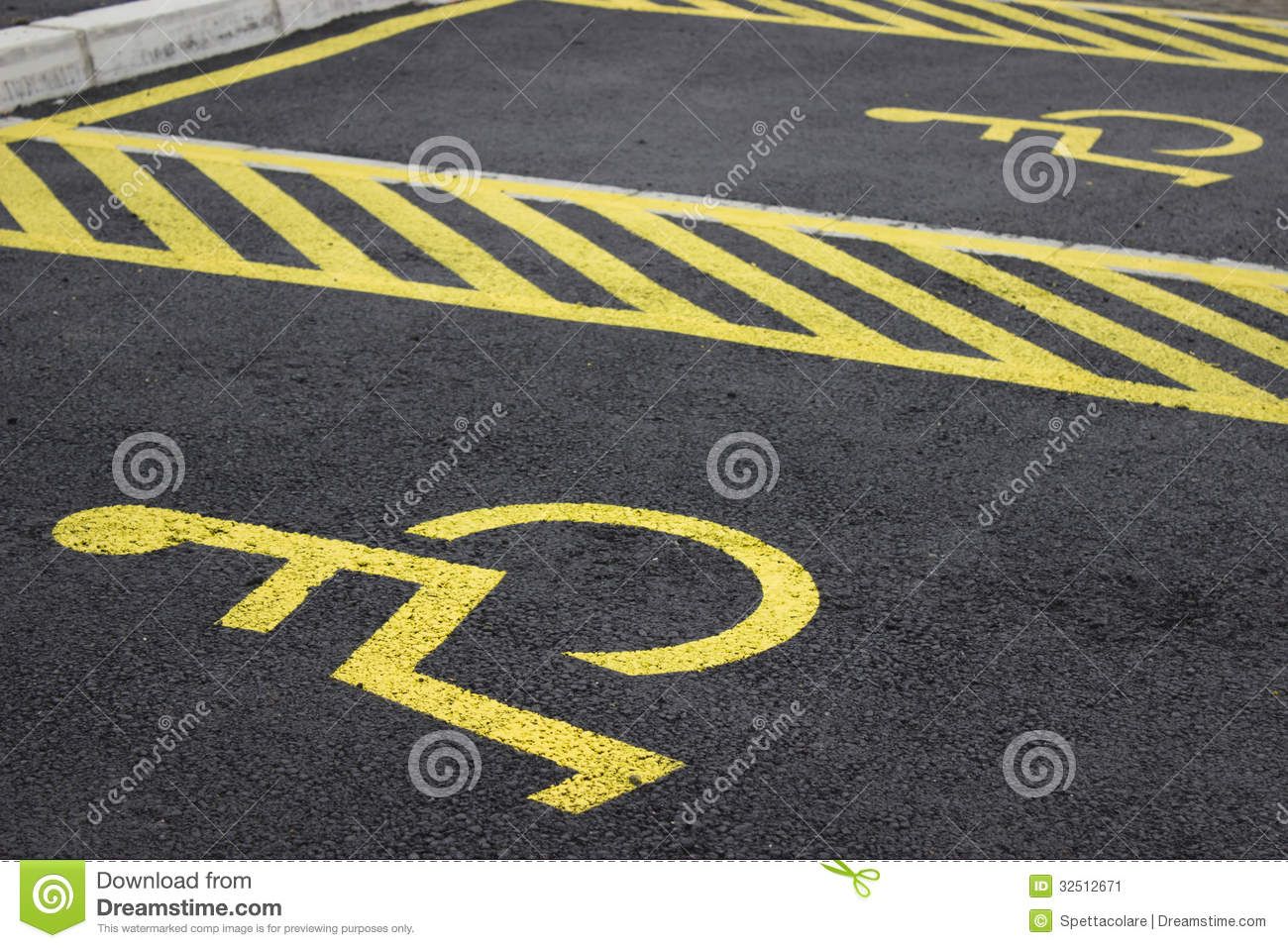 disabled parking spaces 2 stock image image 32512671