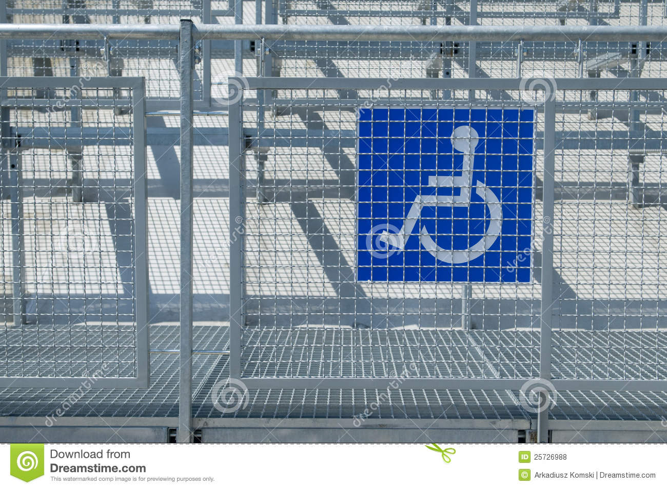 Disabled people auditorium sector