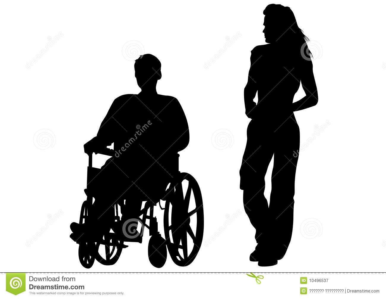 Disabled person stock vector. Illustration of grandfather ...