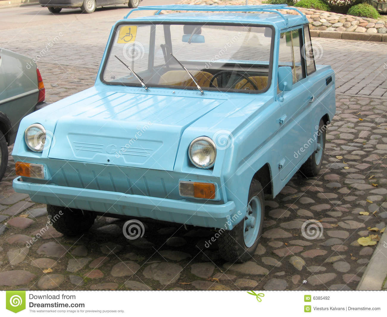 Disabled person car stock photo. Image of soviet, russian - 6385492