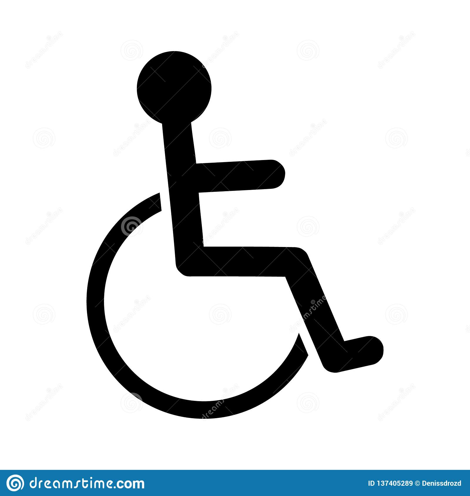Disabled Person, Handicap Icon  Wheelchair Symbol, Isolated Vector