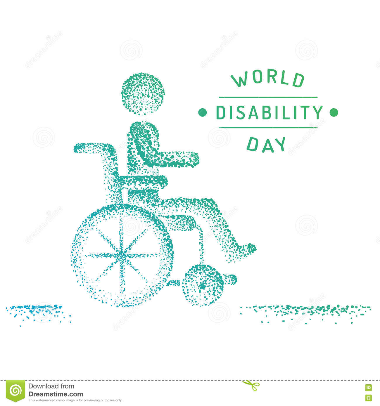 Disabled Person In A Wheelchair Stock Image