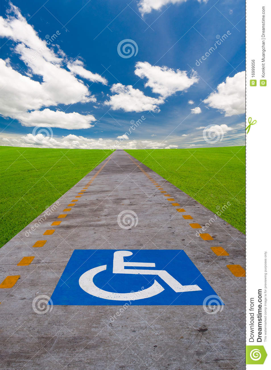 Disabled sign board