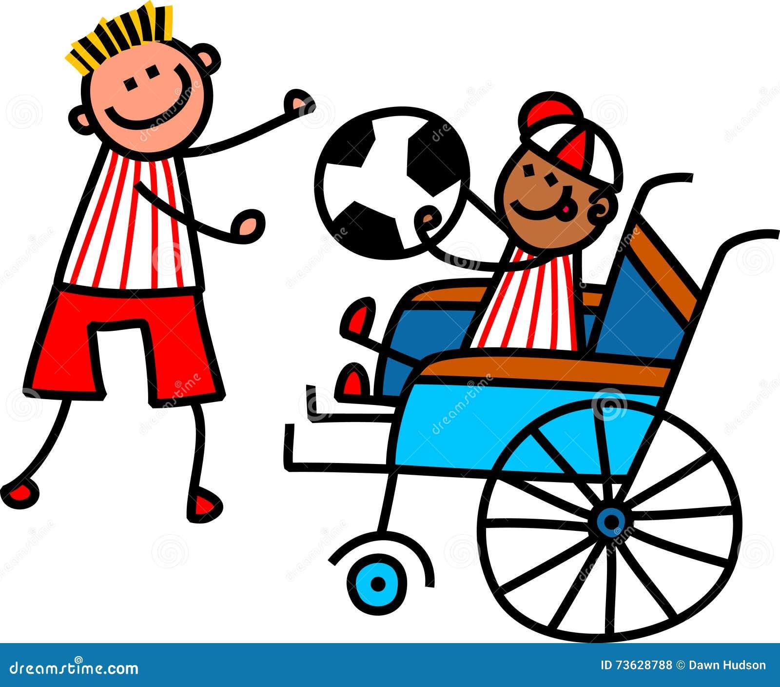 Disabled Soccer Boy stock illustration. Illustration of ...