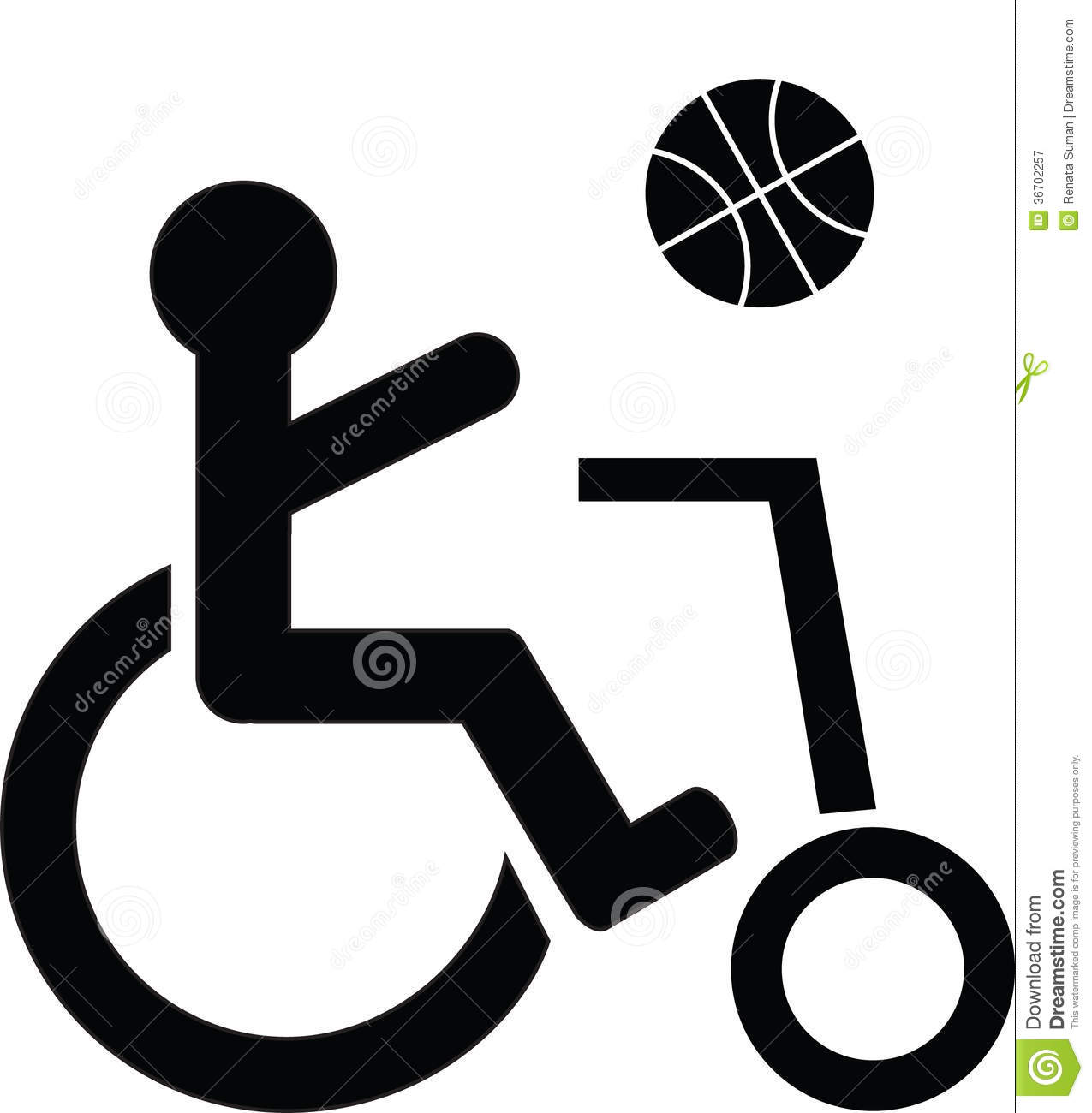 Disabled symbol playing basketball stock vector illustration of disabled symbol playing basketball biocorpaavc Choice Image