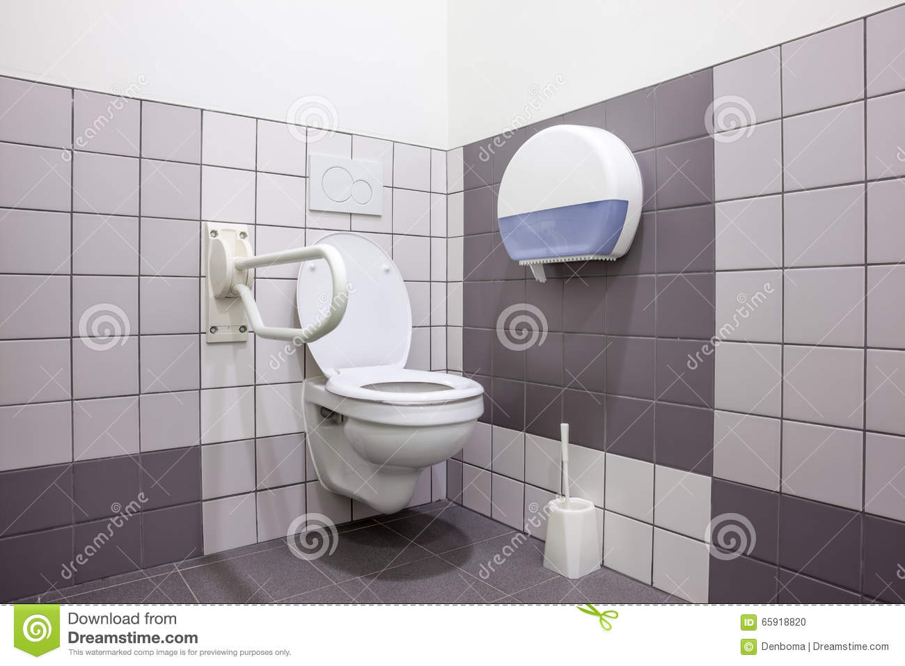 Disabled toilet stock photo. Image of handrail, restroom - 65918820