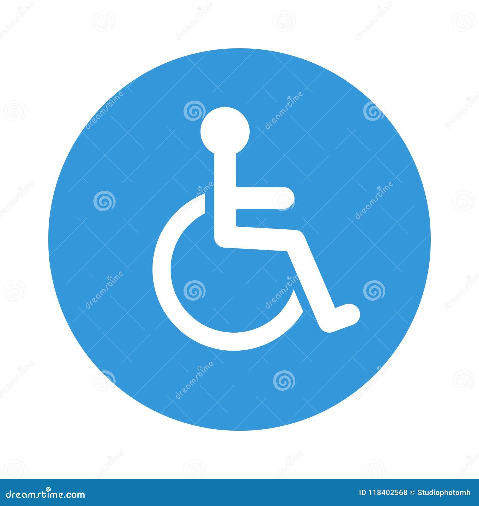 disabled wheelchair icon disable symbol vector stock vector