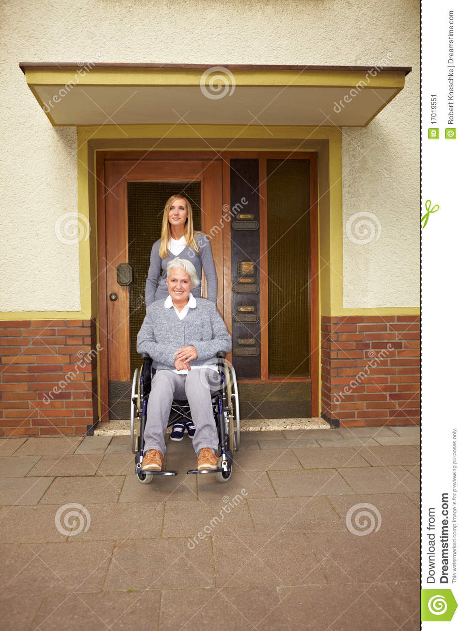Disabled Woman In Assisted Living Stock Image Image