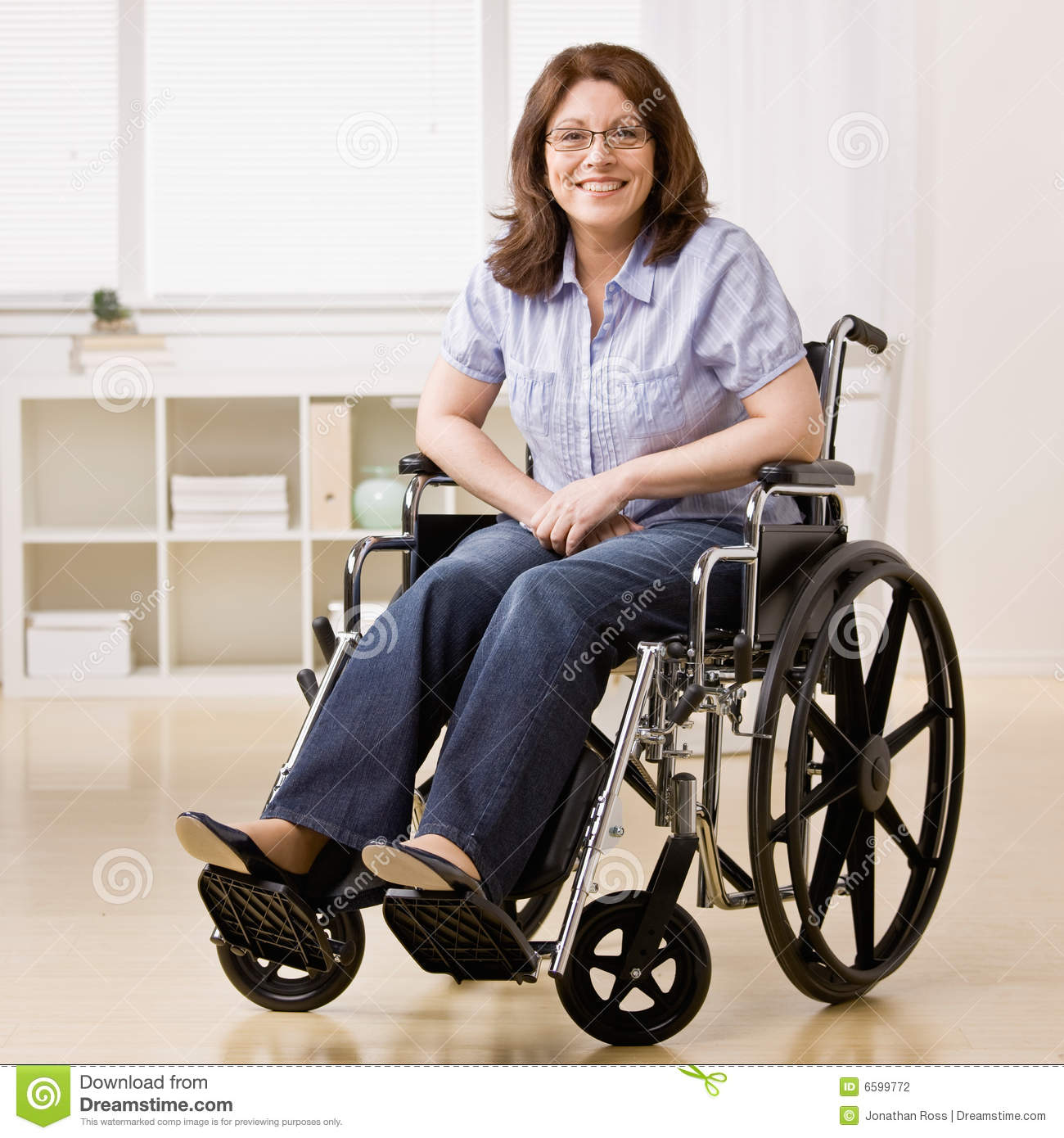 Classroom Design Clipart ~ Disabled woman sitting in laptop stock photography image