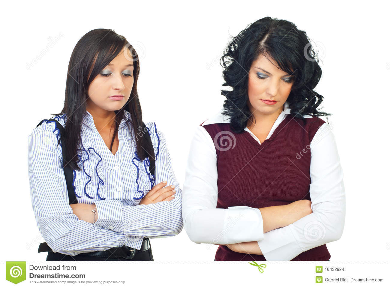 Disappointed business women