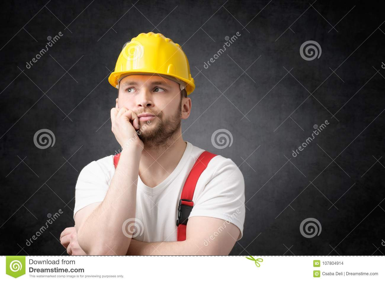 Disappointed Construction Worker Stock Photo - Image of ...