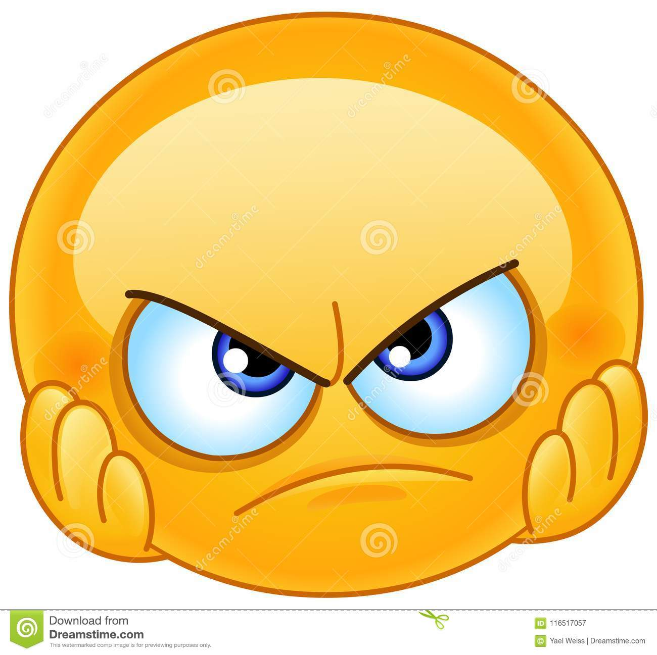 disappointed emoticon stock vector illustration of frown
