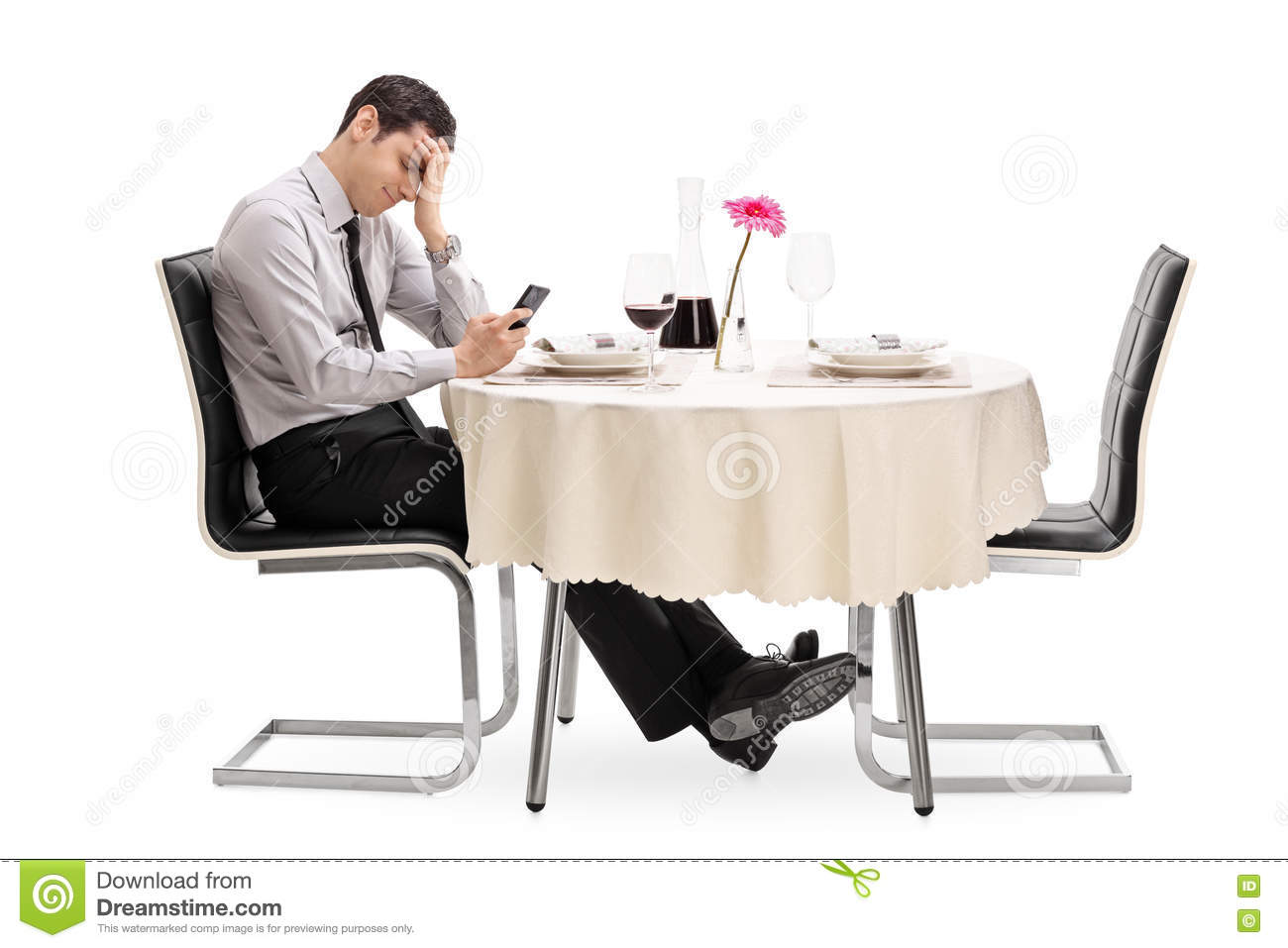 Disappointed Man Stood Up By His Date Stock Photo - Image of