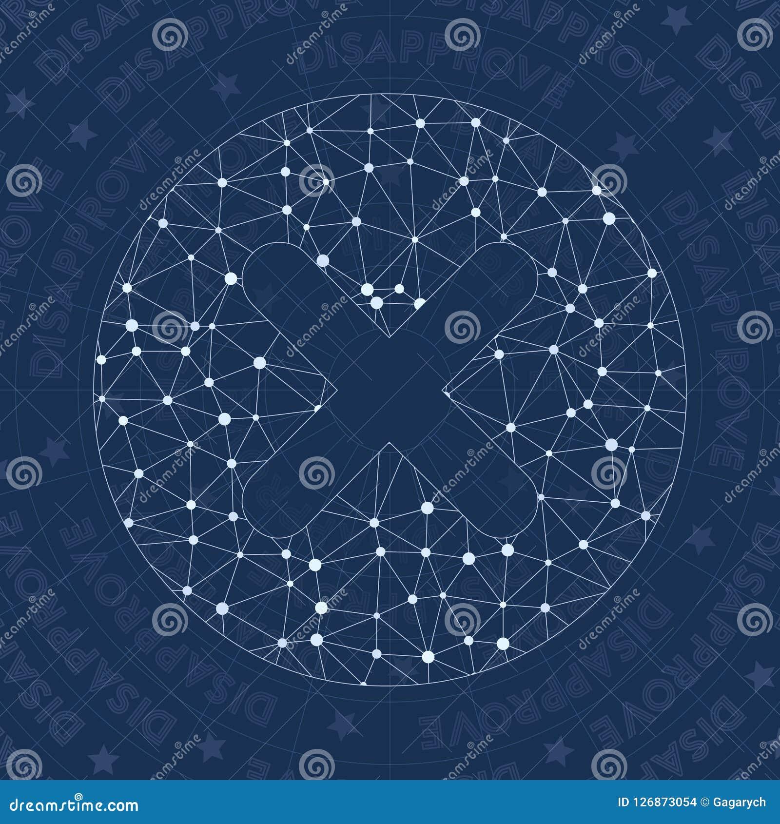 Disapprove Network Symbol Stock Vector Illustration Of Error
