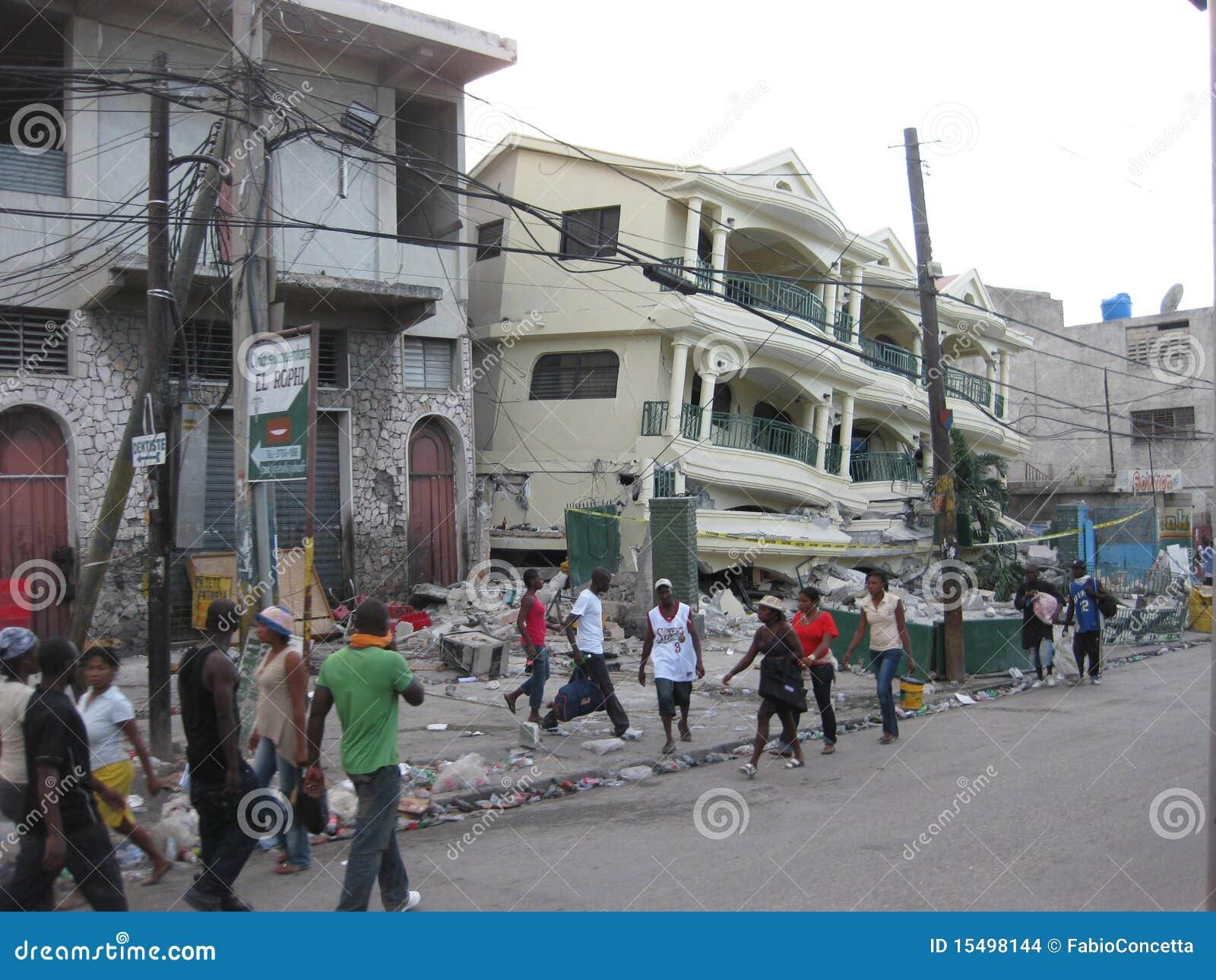 The disaster of haiti