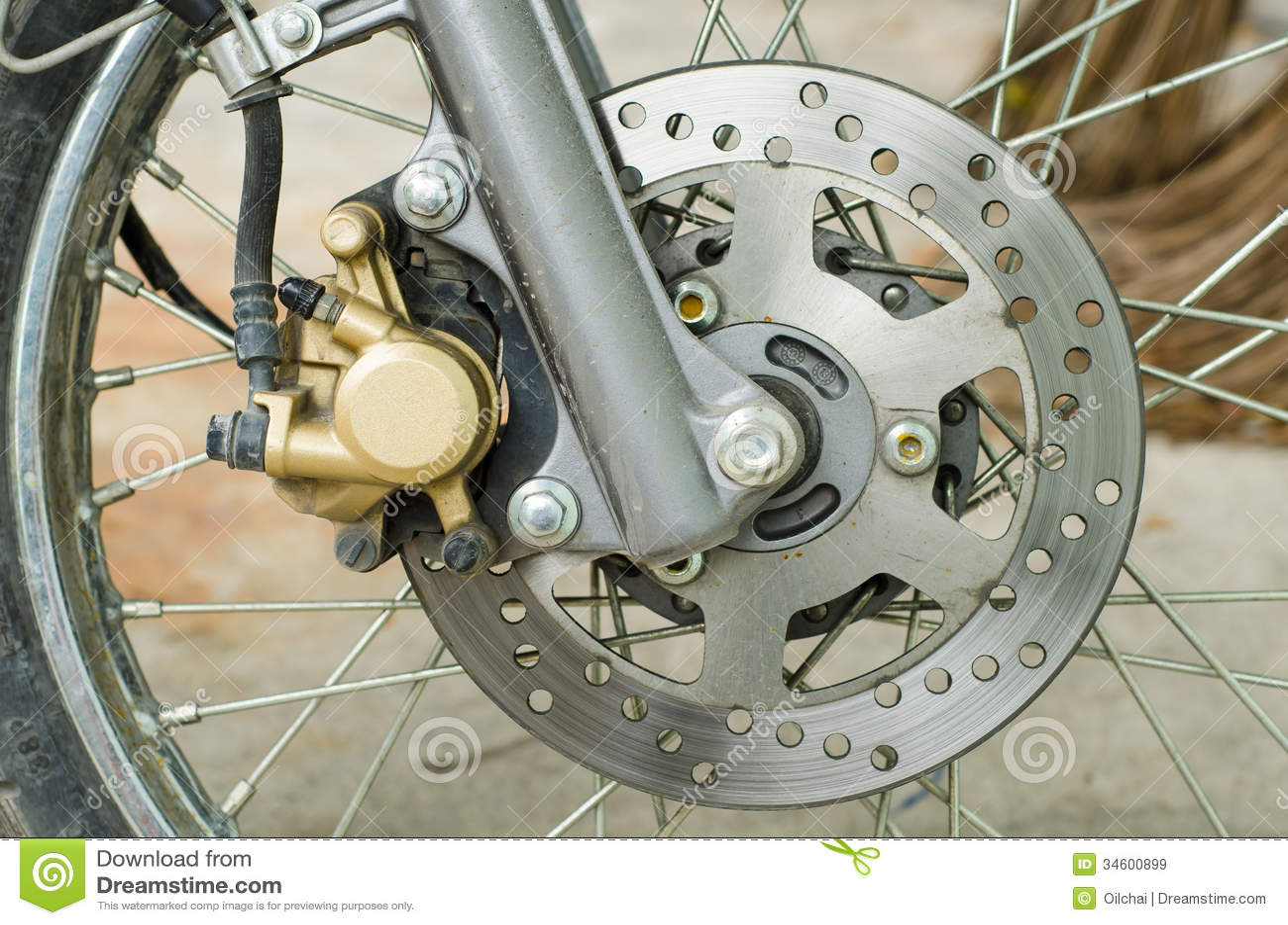 Disc Brake Part Stock Image Image Of Disc Bike Disc 34600899