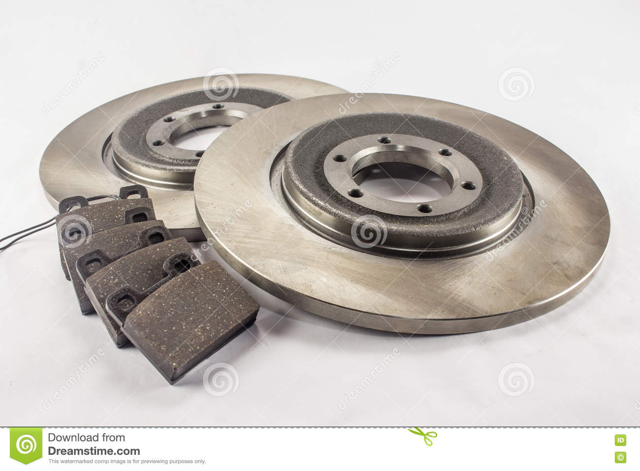 Using Car Brakes : New brake pads and disks royalty free stock photography
