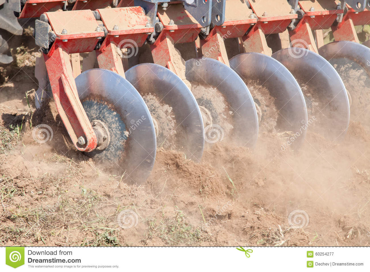 Disc harrow system cultivate the soil stock image image for Soil as a system