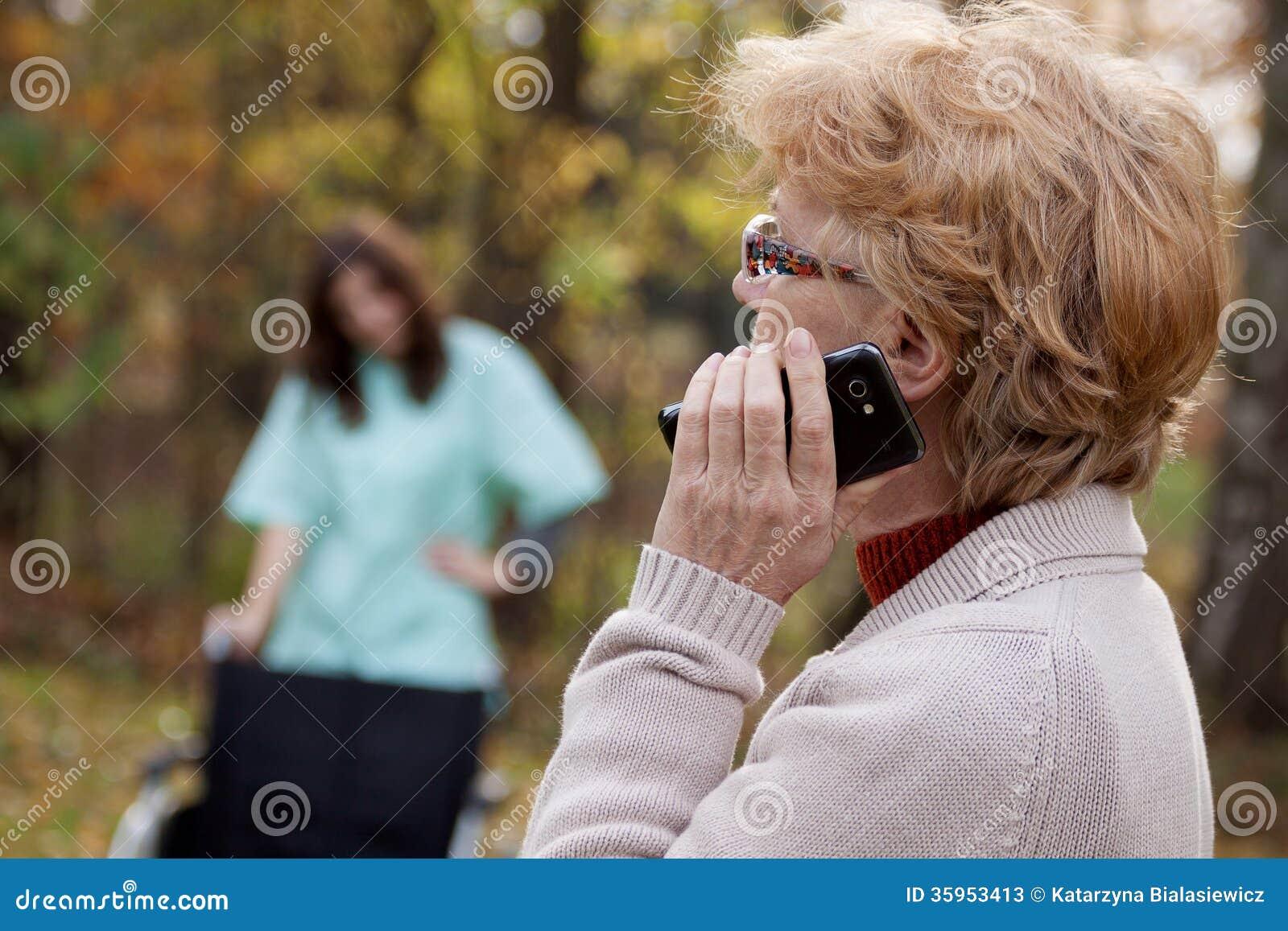 Discapacitado y teléfono