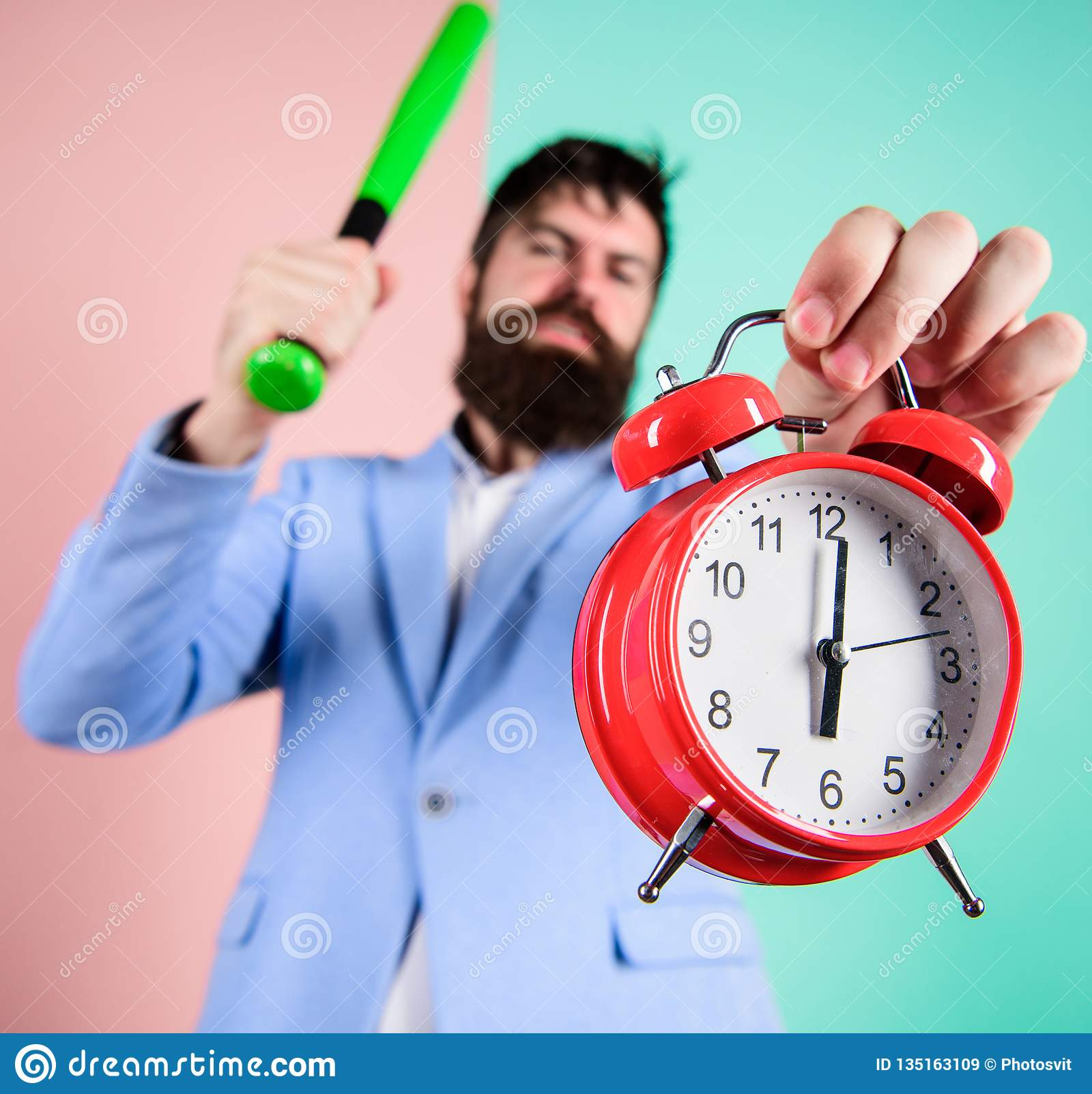Discipline And Sanctions  Boss Aggressive Face Hold Alarm Clock