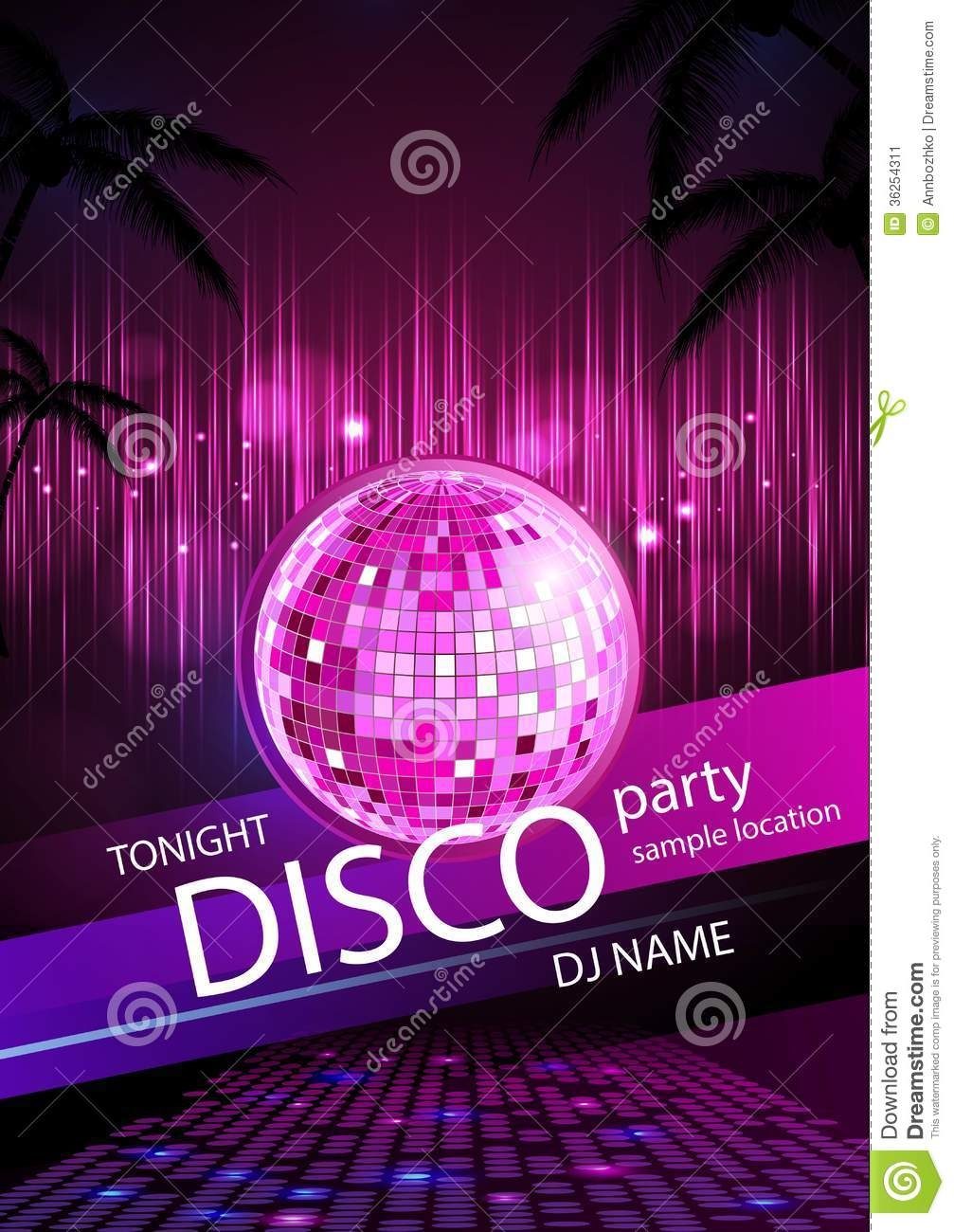 disco background  disco poster stock image