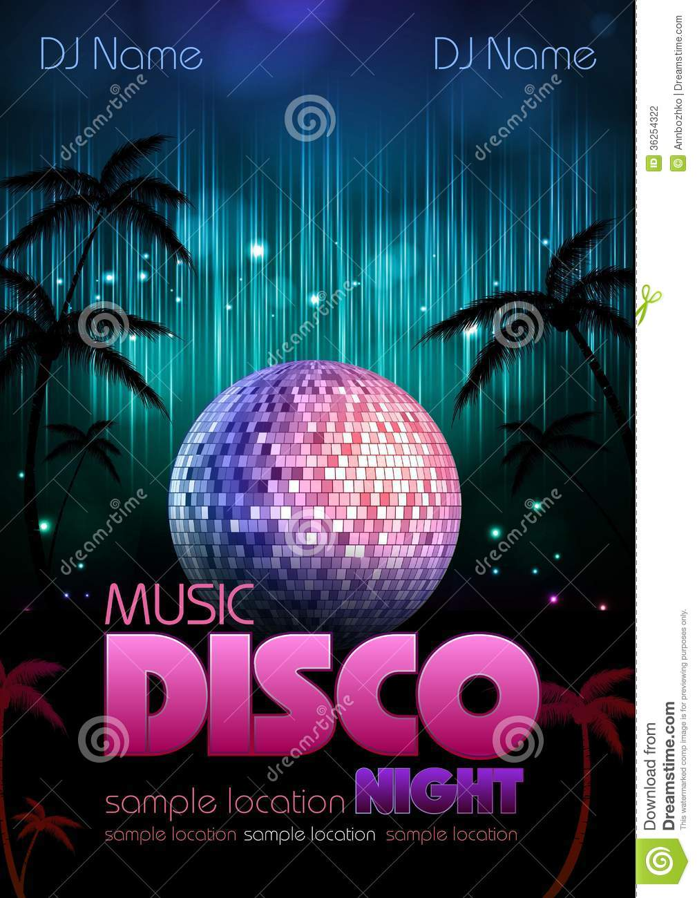Disco Background. Disco Poster Stock Photography - Image: 36254322