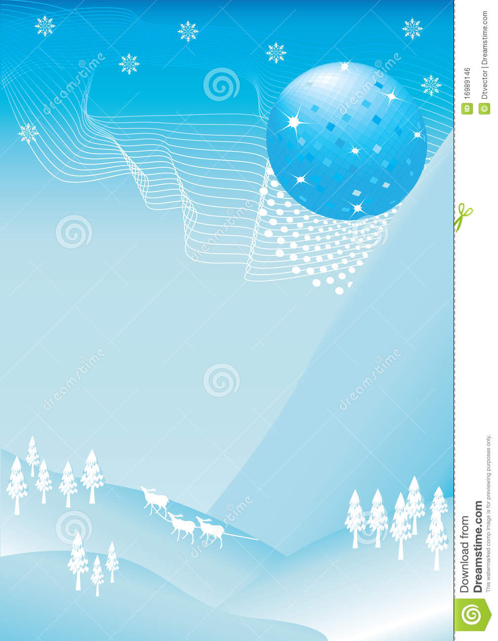 Disco Ball Falling In December Eps Royalty Free Stock