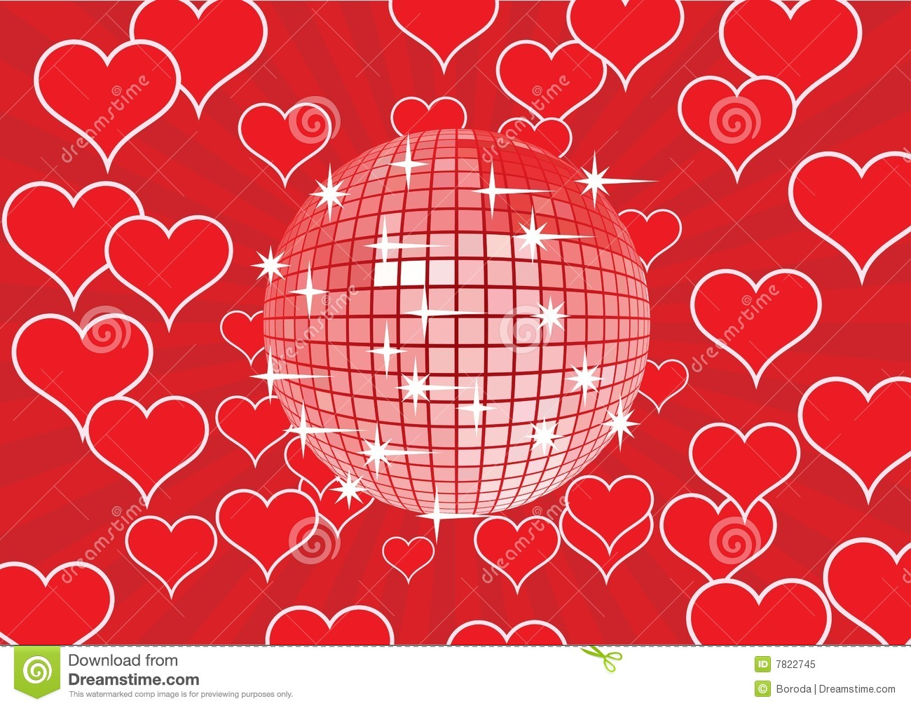 disco ball on a red background  royalty free stock photo