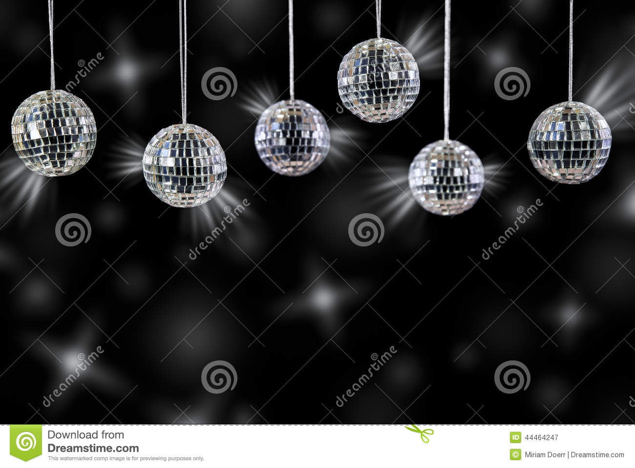 Black And Silver Decorative Balls