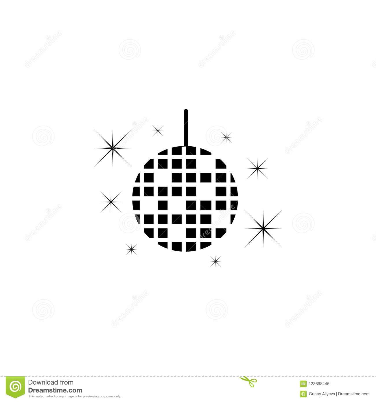 Disco bead icon. Element of party icon for mobile concept and web apps. Detailed disco bead icon can be used for web and mobile