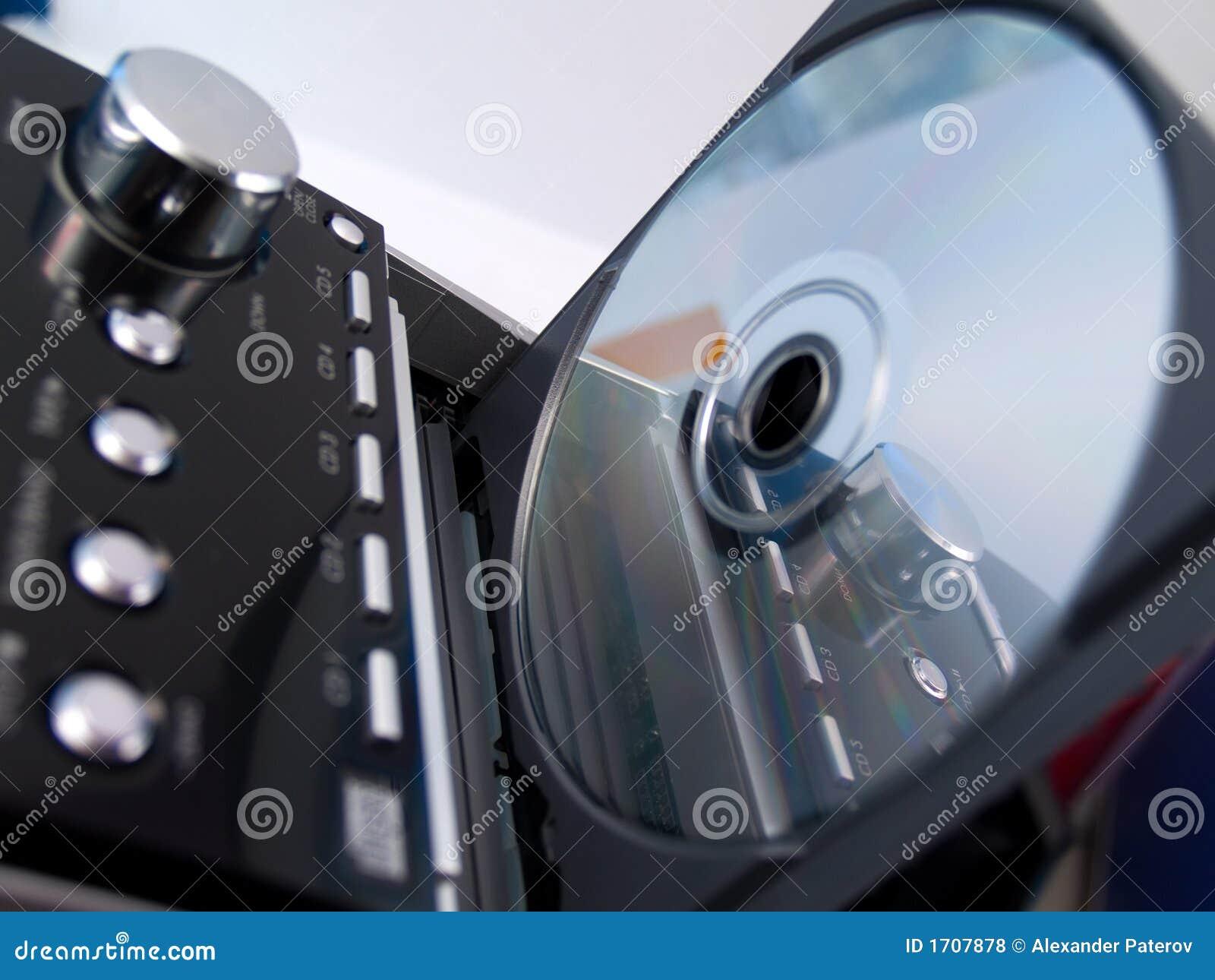 Disco CD no sistema estereofónico